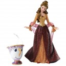 Christmas Belle with Chip Ornament Haute Couture Disney Showcase Enesco