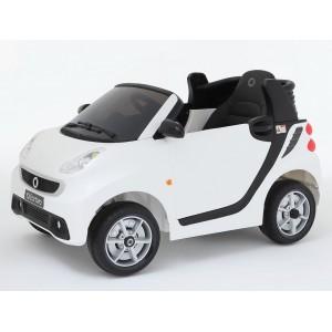 Voiture électrique 12V Smart Fortwo blanche