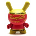 Red Campbell's Soup 3/24 Andy Warhol Series 2 Dunny 3-Inch Figurine Kidrobot