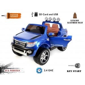 Voiture électrique 12V Ford Ranger Wildtrak Deluxe bleu métallisé