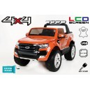 Voiture électrique 24V Ford Ranger 4x4 LCD Luxury orange