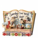 Someday You Will Be A real Boy (Pinocchio) Storybook Disney Traditions Enesco