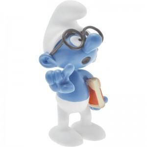 Le Schtroumpf à lunettes Figurine de Collection Plastoy
