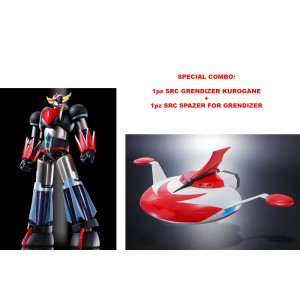 Combo Grendizer + Spazer SRC Kurogane Finish Figurine Bandai
