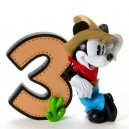 "Birthday Numbers Mickey ""3"" Disney Showcase Enesco"
