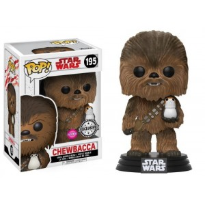 Chewbacca (with Porg) Flocked Exclusive POP! Star Wars Bobble-head Funko