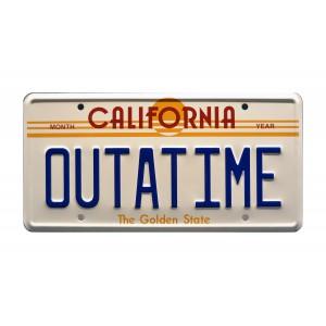 DeLorean Time Machine OUTATIME License Plate Back to the Future