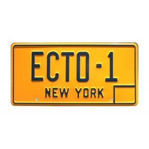 Cadillac 1959 ECTO-1 License Plate Ghostbusters (1984)