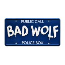BAD WOLF Public Call Police Box License Plate Doctor Who