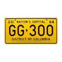 JFK Presidential Limousine GG 300 License Plate