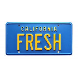 Chevrolet Styleline Deluxe Taxi FRESH License Plate The Fresh Prince of Bel-Air