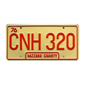 Dodge Charger 1969 General Lee CNH 320 Classic Edition License Plate The Dukes of Hazzard