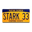 Tony Stark's Acura NSX Roadster STARK 33 License Plate The Avengers