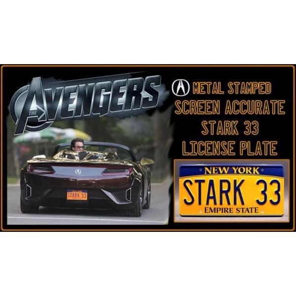 Tony Stark's Acura NSX Roadster STARK 33 License Plate The