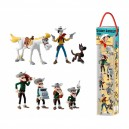 Tubo 7 Mini Figurines Lucky Luke Plastoy