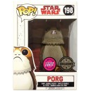Porg (Flocked) Exclusive Chase POP! Star Wars Bobble-head Funko
