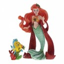 Christmas Ariel with Flounder Haute Couture Disney Showcase Enesco