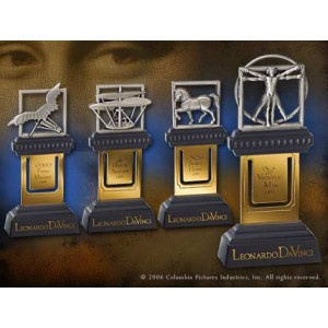 Da Vinci Code Leonard Set 4 Marque-pages Noble Collection