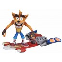 "Deluxe Crash Bandicoot with Jet Board 7"" Scale Action Figure Neca"