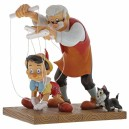Little Wooden Head (Pinocchio and Geppetto) Disney Showcase Enesco