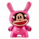 Julius Bunny (Pink) 1/24 Designer Con Mini Series Dunny 3-Inch Figurine Kidrobot
