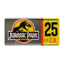 25th Anniversary Silver Edition JP 25 License Plate Jurassic Park (1993)