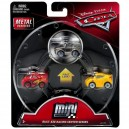 3-Pack Cars 3 Die-Cast Mini Racers Metallic Sterling Exclusive Mattel