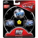 3-Pack Cars 3 Die-Cast Mini Racers Metallic Dinoco Lightning McQueen Exclusive Mattel