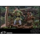 ACOMPTE 20% précommande Princess Leia & Wicket MMS Figurine 1/6 Hot Toys