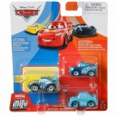 "3-Pack Cars 3 Die-Cast Mini Racers Metallic Strip Weathers aka ""The King"" Exclusive Mattel"