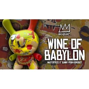 "PRECOMMANDE Basquiat Wine of Babylon Masterpiece 8"" Dunny Figurine Kidrobot"