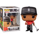 Tiger Woods (Red Shirt) POP! Golf 01 Figurine Funko