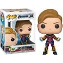 Captain Marvel (with New Hair) - Avengers: Endgame POP! Marvel 576 Bobble-head Funko