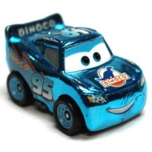 Metallic Dinoco Lightning McQueen Cars 3 Die-Cast Mini Racers Mattel