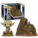 Dagobah Yoda with Hut POP! Town 11 Bobble-head Funko