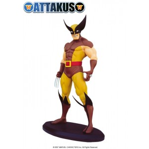 Wolverine Brown Costume Statue Attakus
