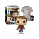 Set Marty Tee T-Shirt & Marty with Hoverboard Exclusive POP! Movies 964 Figurine Funko