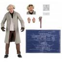 "Ultimate 'Doc' Brown Back to the Future 7"" Scale Figurine NECA"