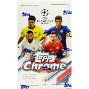 2020-21 Topps CHROME UEFA Champions League Soccer Hobby Box