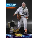 ACOMPTE 20% précommande Doc Brown Deluxe Version - BTTF MMS Figurine 1/6 Hot Toys