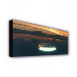 Millenium Falcon over Bespin Cloud City Canvas ID-Wall