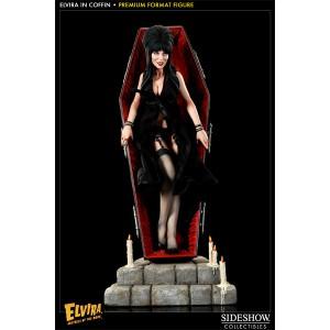 Elvira in Coffin Premium Format Statue Sideshow
