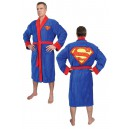 Peignoir de Bain (Adulte) Superman Bleu Groovy UK