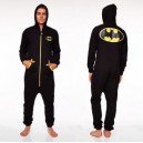 Combinaison à Capuche (Adulte L) Batman Logo Noir Groovy UK