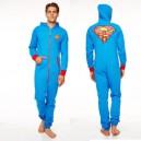 Combinaison à Capuche (Adulte L) Superman Logo Noir Groovy UK