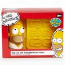Coquetier et tampon à pain toasté Homer Paladone