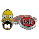 Set Sous-verres Duff Beer avec Décapsuleur United Labels