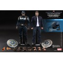 Captain America and Steve Rogers Set Figurines 1/6 Hot Toys