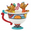 Jaq & Gus in Tea Cup by Britto Statue Enesco