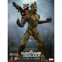 Rocket and Groot MMS Figurine 1/6 Hot Toys